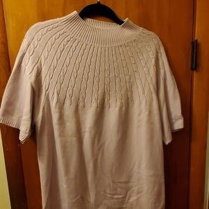 Sag Harbor Cable knit Lilac 1X sweater